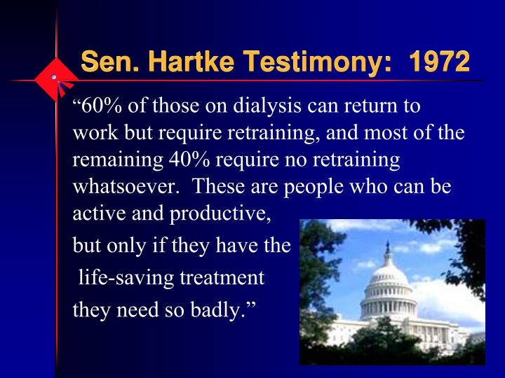 Sen. Hartke Testimony:  1972