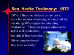 sen hartke testimony 1972
