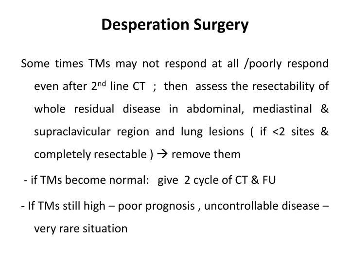 Desperation Surgery
