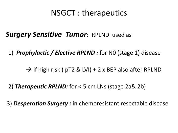 NSGCT : therapeutics