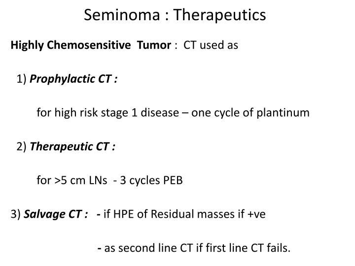 Seminoma : Therapeutics