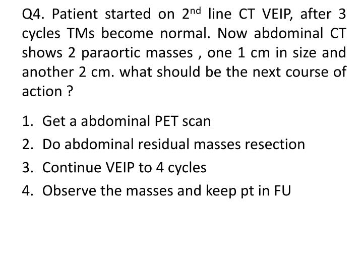 Q4. Patient started on 2