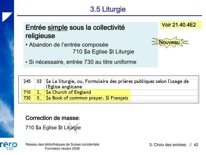 3.5 Liturgie