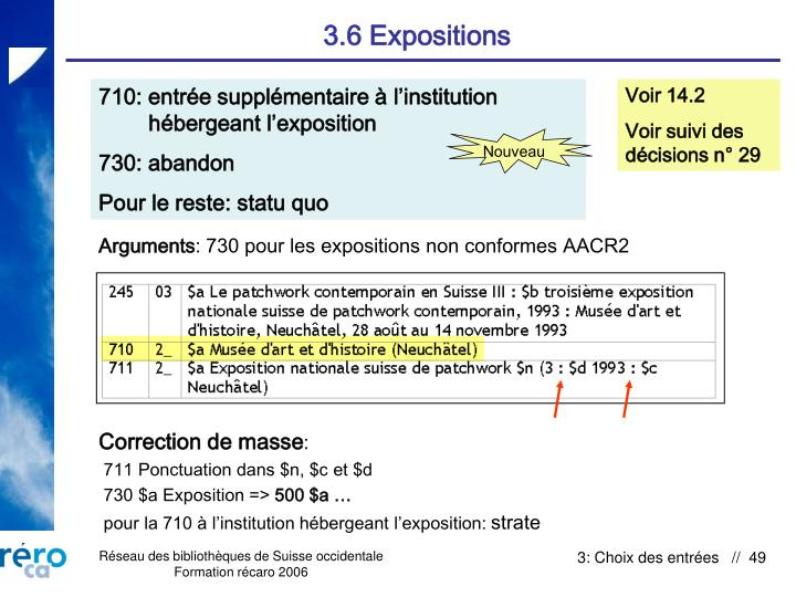 3.6 Expositions