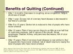 benefits of quitting continued