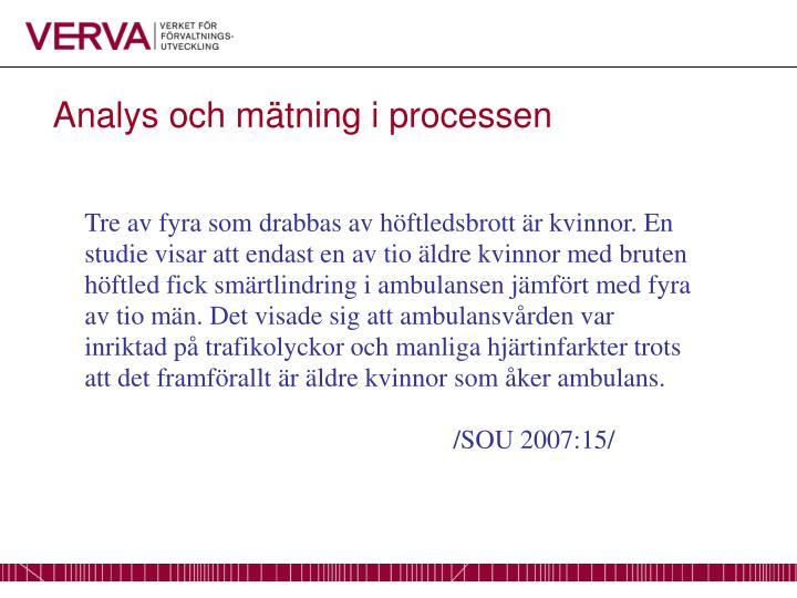 Analys och mätning i processen