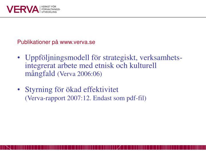 Publikationer på www.verva.se