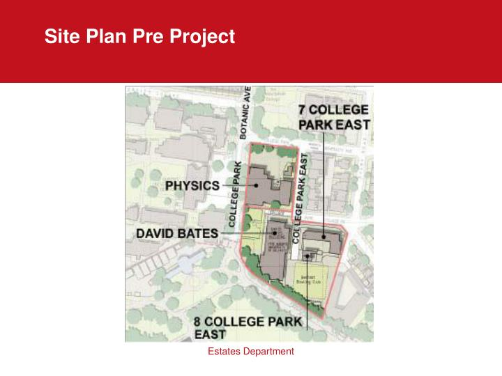 Site Plan Pre Project