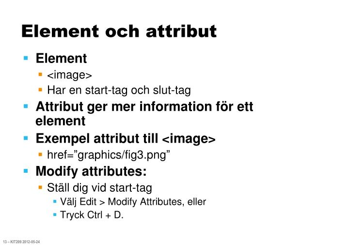 Element och attribut