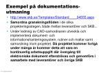 exempel p dokumentations utmaning