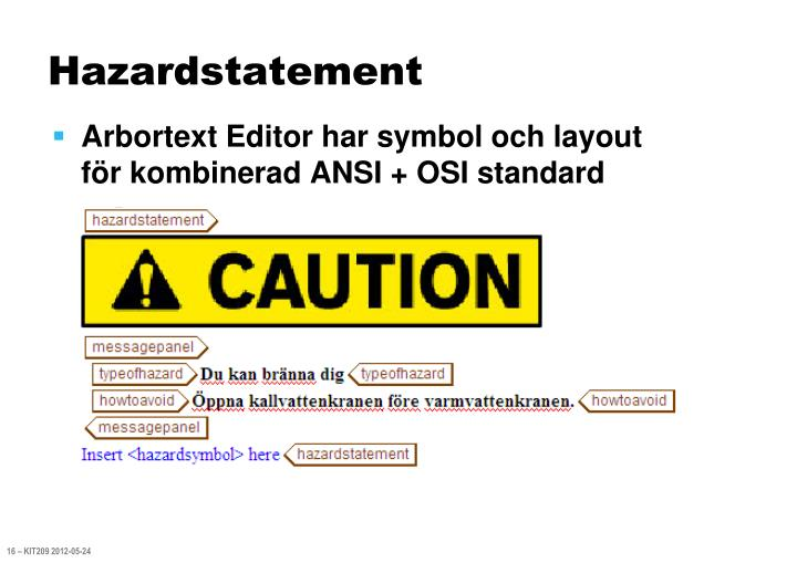 Hazardstatement