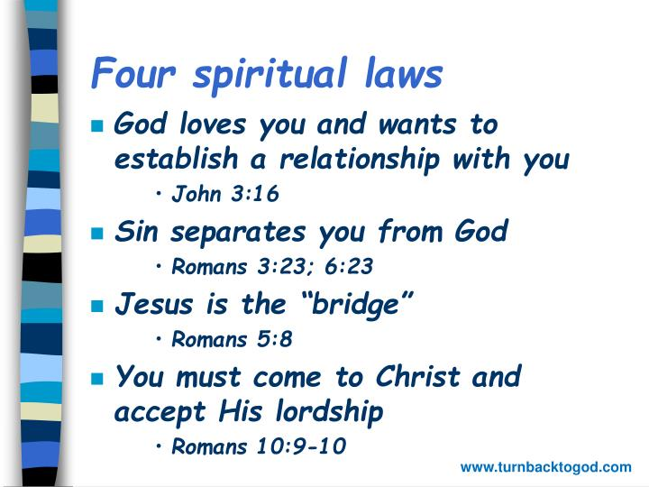 evangelism four spiritual laws Godtools equips you to i feel like i was able to squeeze many hours of discipleship and evangelism training into about 20 the four spiritual laws.