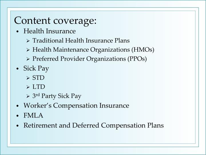 Content coverage: