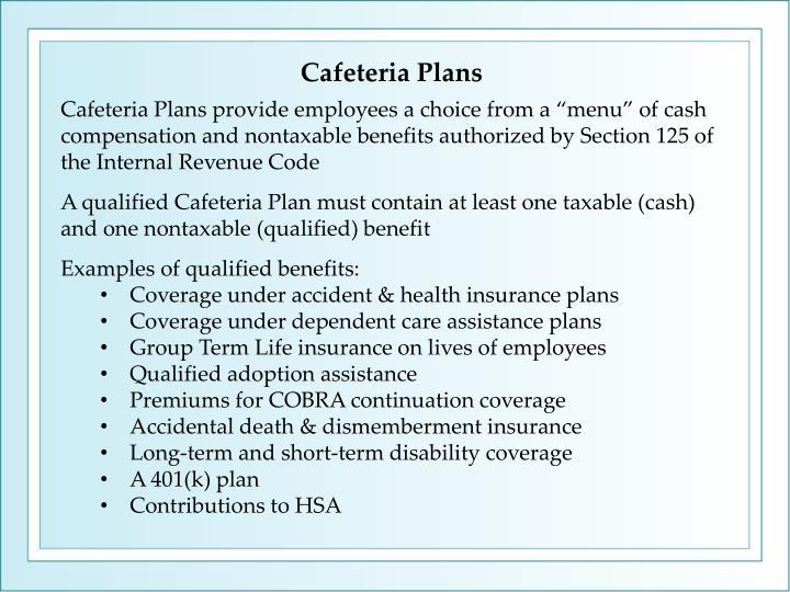 Cafeteria Plans