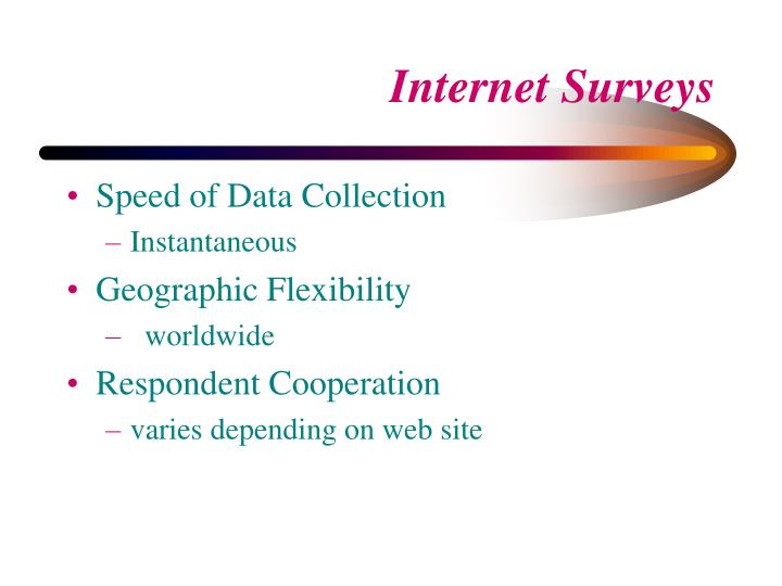 Speed of Data Collection
