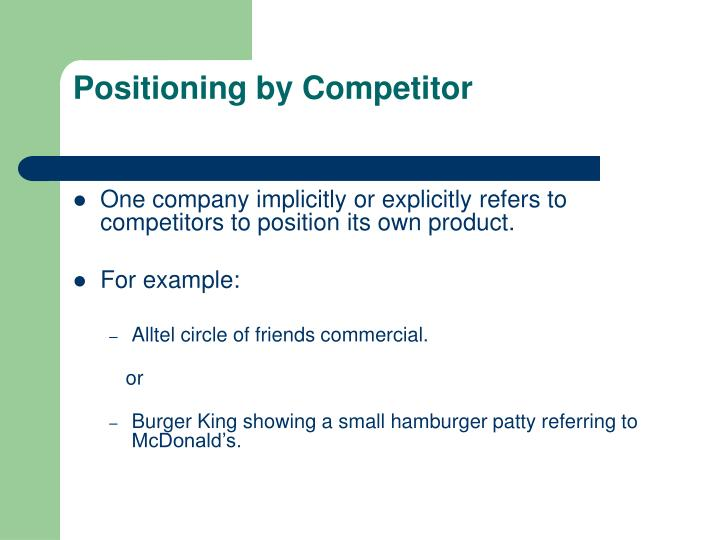 Positioning by Competitor
