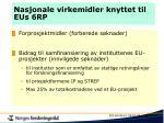 nasjonale virkemidler knyttet til eus 6rp