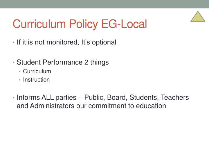 Curriculum Policy EG-Local