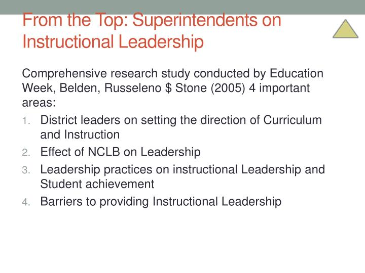 From the Top: Superintendents on Instructional Leadership
