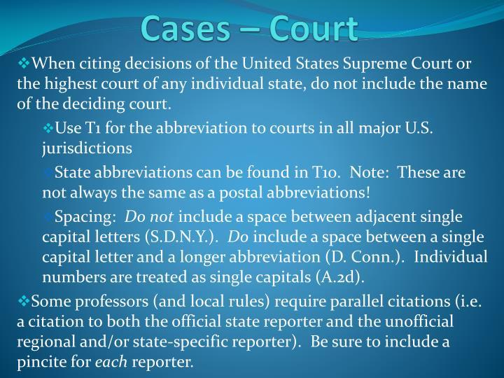 Cases – Court