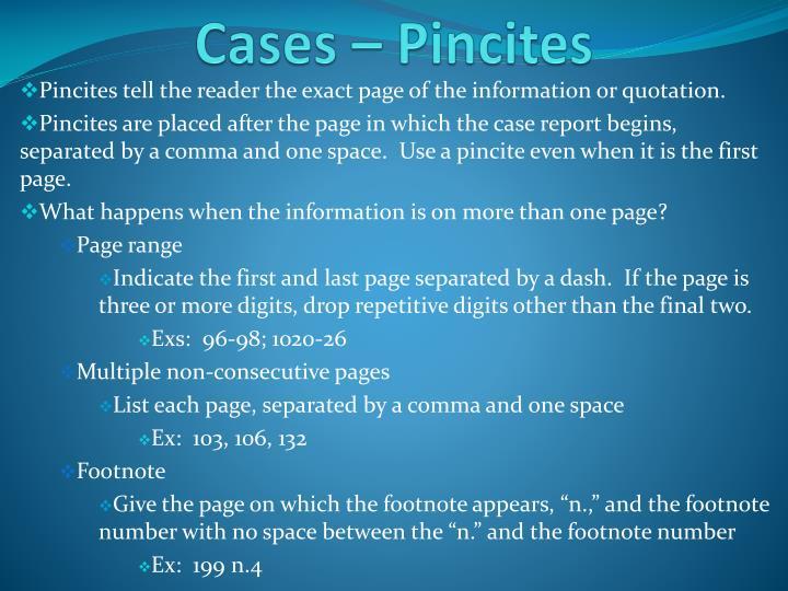 Cases –