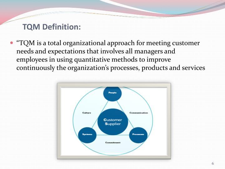 TQM Definition: