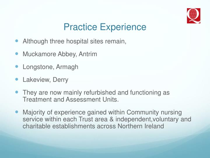 Practice Experience