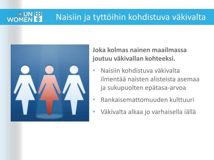 Naisiin ja tyttöihin kohdistuva väkivalta