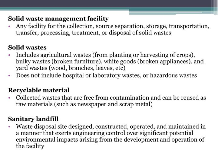a report on waste management Global construction waste management market is segmented on the basis of waste type, service type and geography.
