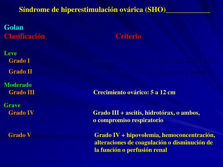 Síndrome de hiperestimulación ovárica (SHO)____________