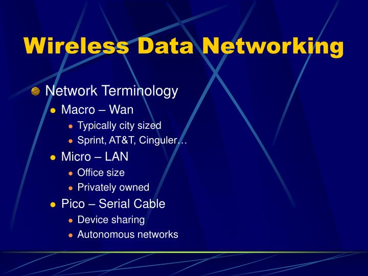 Wireless Data Networking