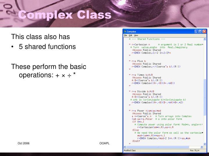 Complex Class