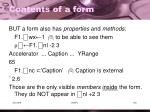 contents of a form3