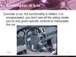 example a car
