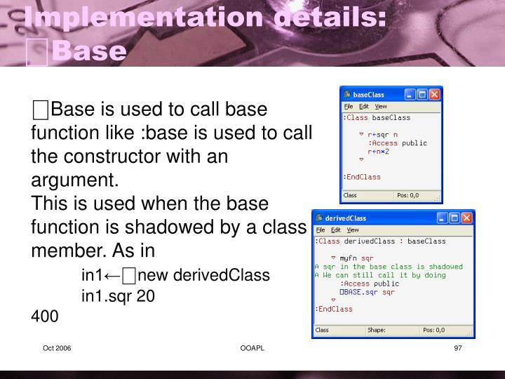 Implementation details: ⎕Base
