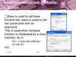 implementation details base1