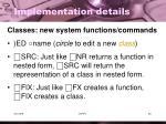 implementation details1