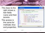 implementation encapsulation2