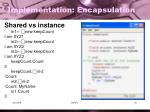 implementation encapsulation5