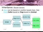 implementation inheritance