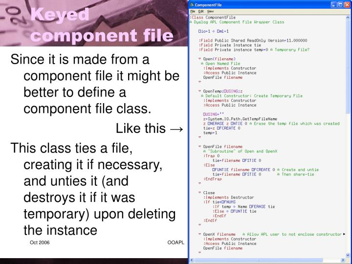 Since it is made from a component file it might be better to define a component file class.