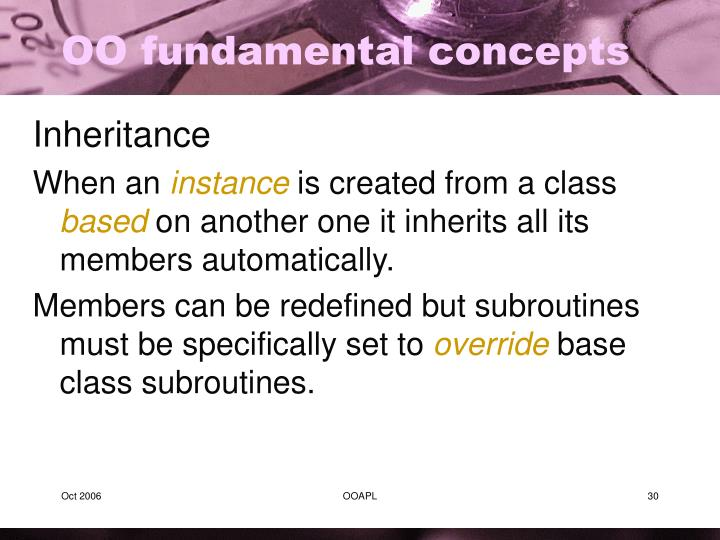 OO fundamental concepts