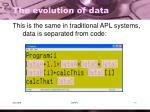 the evolution of data2