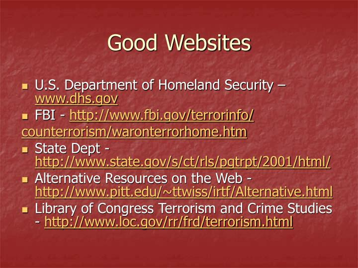 Good Websites