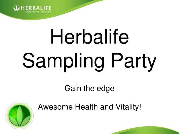 herbalife sampling party