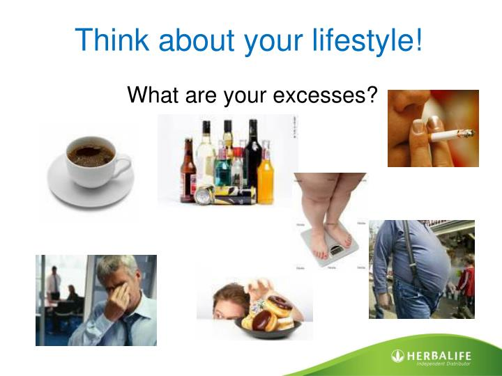 Think about your lifestyle!