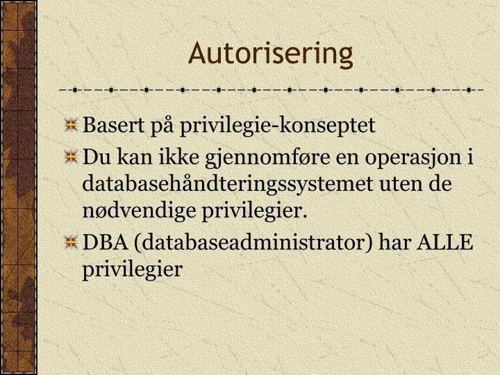 Autorisering
