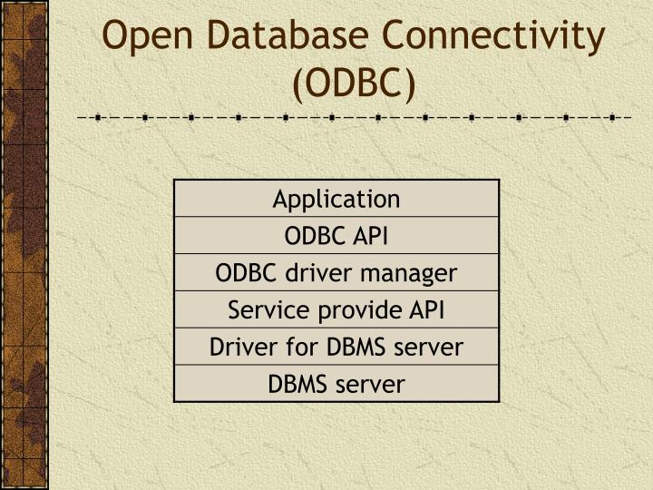 Open Database Connectivity (ODBC)
