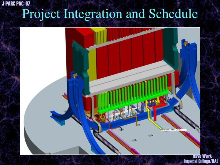 Project Integration and Schedule