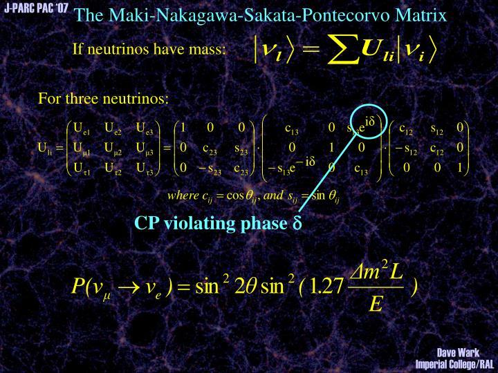 The Maki-Nakagawa-Sakata-Pontecorvo Matrix